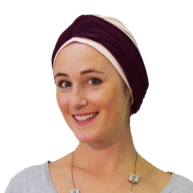 bandeau kamilleprune turban