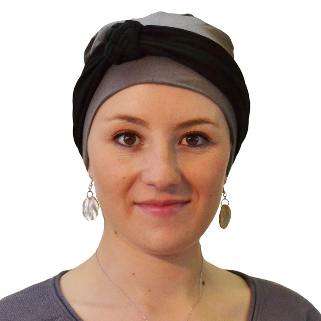 bandeau solweig noir turban