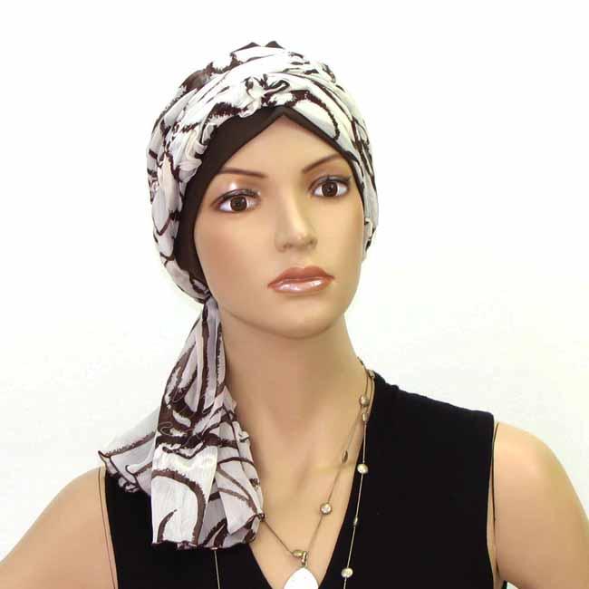 Turban motifs marron