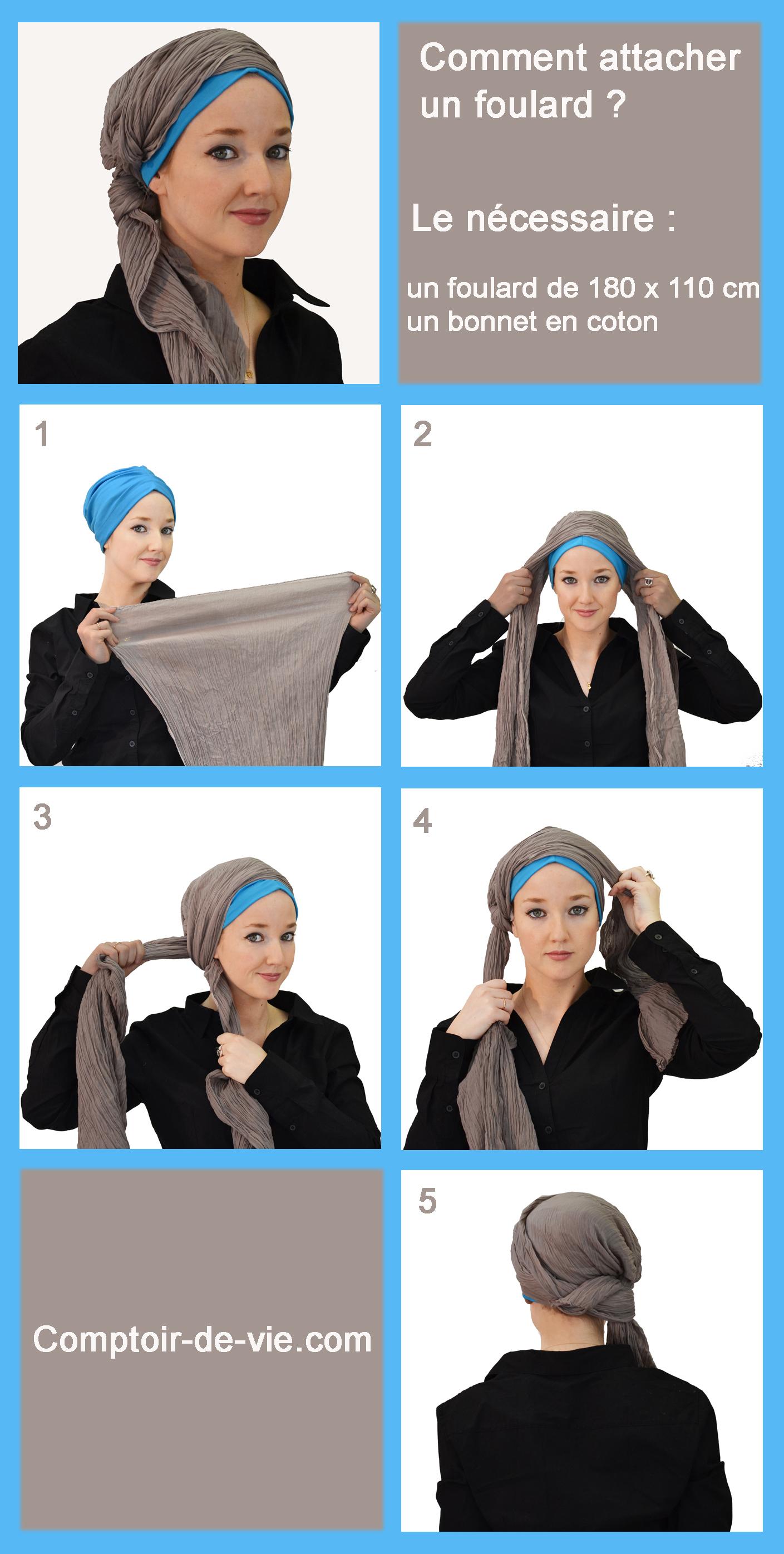 """Très Comment attacher un foulard - façon turban """"graphique"""" ? SO34"""