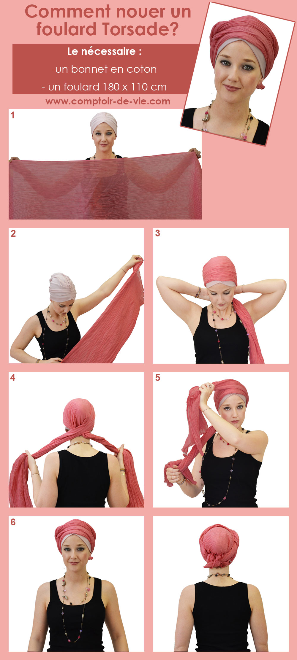 "Extrêmement Comment nouer un turban - façon turban ""torsade""? OB73"