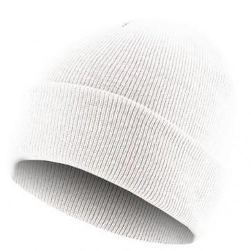 Bonnet homme Basic Flap - Blanc - Masterdis