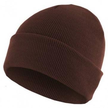 Bonnet homme Basic Flap - Chocolat - Masterdis