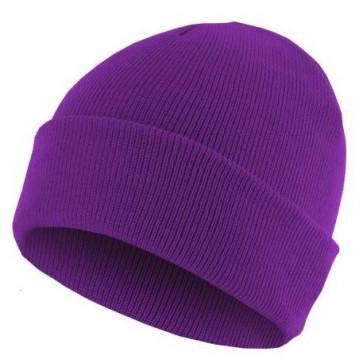 Bonnet homme Basic Flap - Violet - Masterdis