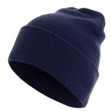 Bonnet homme Basic Flap - Bleu marine - Masterdis