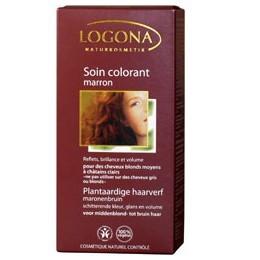 Soin colorant végétal - Marron - Logona