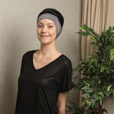 Turban bambou Agate bicolore gris/noir Comptoir de Vie