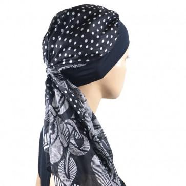 Turban Alissa noir en soie - Look Hat Me