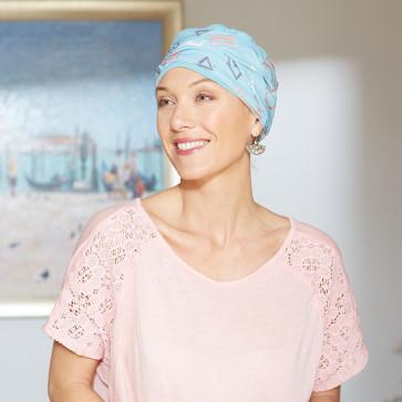 Turban chimio Austin turquoise - Comptoir de Vie