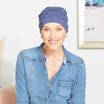 Turban chimio Manille bleu - Comptoir de Vie