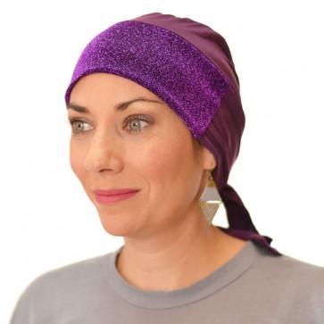 Bandana préformé violet