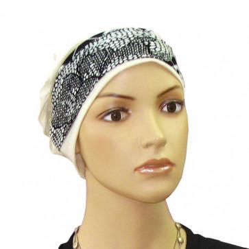 Bandeau cheveu Ida Couture noir et blanc