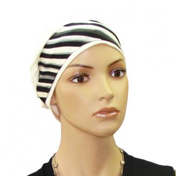 Bandeau cheveu Ida Trapèze noir et blanc