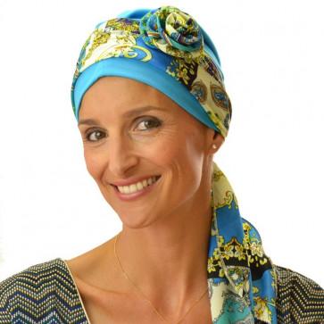 Bandeau à fleur amovible ANDALOUSIE - Bleu
