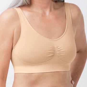 Soutien-gorge en coton bio Becky - rose/nude - Amoena