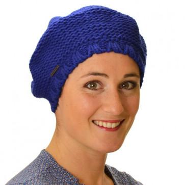 Bonnet femme Prague bleu nuit - Seeberger