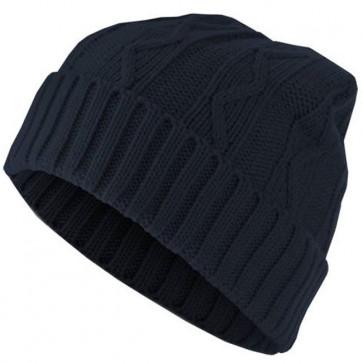 Bonnet chaud Homme Cable - Bleu marine - Masterdis