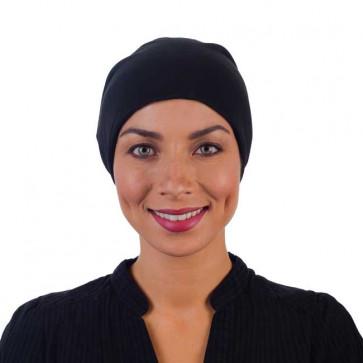 Bonnet chimio en viscose - Noir