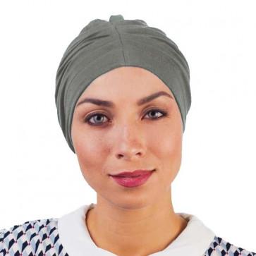 Bonnet de nuit coton drapé gris chiné - Comptoir de Vie