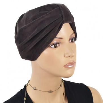 Bonnet en éponge Kim marron - NJCréation