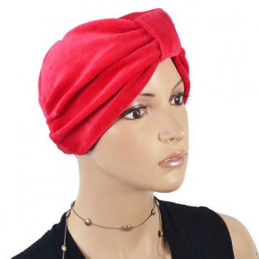 Bonnet en éponge Kim rouge - NJCréation