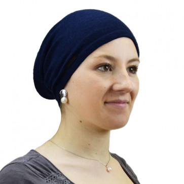 Bonnet fin en cachemire bleu marine - Seeberger