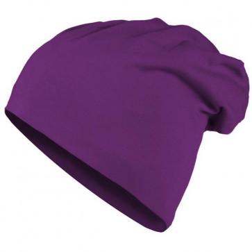 Bonnet homme Beanie en coton - Violet - Masterdis