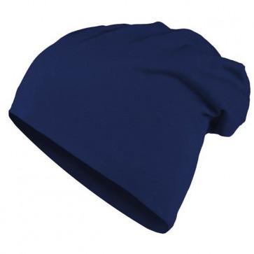 Bonnet homme Beanie en coton - Bleu - Masterdis