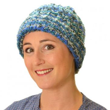 Bonnet en laine pour l'hiver Siberia bleu - Seeberger