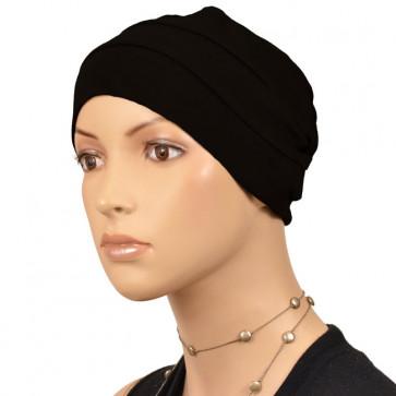 Bonnet uni 3 coutures - noir