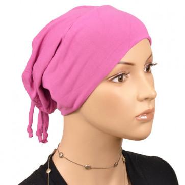 Bonnet de nuit pratique rose orchidée
