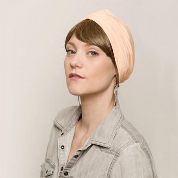 Bonnet de nuit coton drapé Beige - Comptoir de Vie