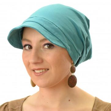 casquette légère en coton bleu canard Seeberger