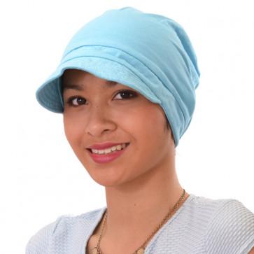 Seeberger - Casquette légère en coton turquoise