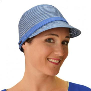 Casquette rayée bleue - Seeberger
