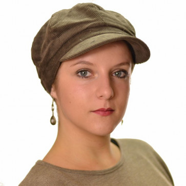 Casquette en velours Varsovie - Marron