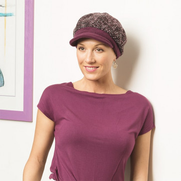 Casquette gavroche chaude violette - Comptoir de Vie
