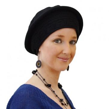 Chapeau Eloïse noir en coton - IDHATS