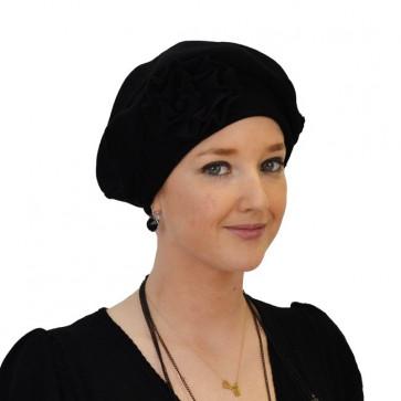 Turban Adeline noir en coton - IDHATS