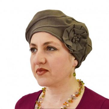 Turban Adeline noisette en coton - IDHATS -