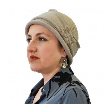 Chapeau Lise beige en coton - IDHATS -