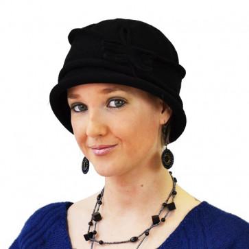Chapeau Lise noir en coton - IDHATS -