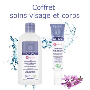 Coffret Soins du visage et du corps Eau thermale de Jonzac - 1 lait nettoyant + 1 crème riche