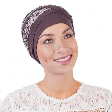 Turban Doris taupe - MM Paris