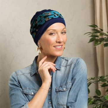 Turban chimio Doris Bleu Lagon - MM Paris