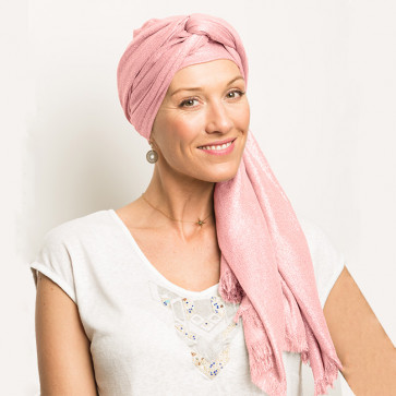 Étole Héra pailletée rose - Comptoir de Vie