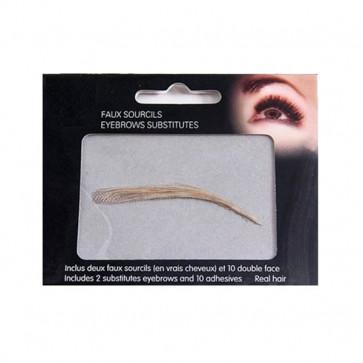 Kit de 2 faux sourcils 100% naturels - Blond