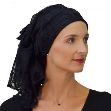 Foulard AZINE noir en dentelle Céline ROBERT
