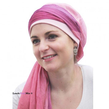 Foulard Fusion rose- Look Hat Me