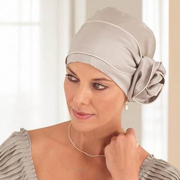 Foulard soie beige et blanc - Amoena